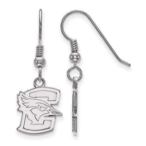 Earrings White Sterling Silver Nebraska Women'S NCAA Creighton University 29 mm 11