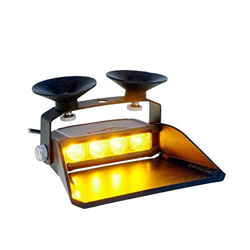 LED-Martin® S4 Straßenräumer – Lichtfarbe GELB - für den professionellen Einsatz, ECE-R65 Typengenehmigung, Frontblitzer mit 19 Blitzmuster, 12V/24V, 3 Meter Anschlusskabel