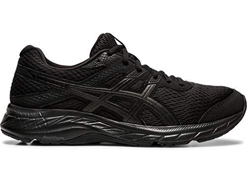 ASICS Women's Gel-Contend 6 Running Shoes, 7.5M, Black/Black