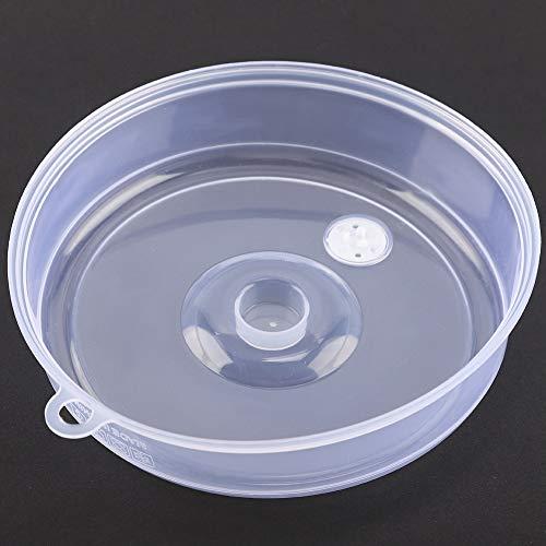 Cubierta de placa de microondas portátil a prueba de aceite, tapa de placa de microondas de silicona, para piezas de horno de microondas para accesorios de horno de microondas(large)