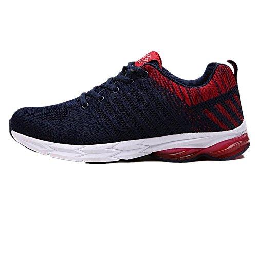 Logobeing Zapatillas de Running para Hombre Correr Calzado Deportes Al Aire Libre Transpirables Casual Zapatos Gimnasio Trabajo Sneakers 39-45 (41, Rojo)