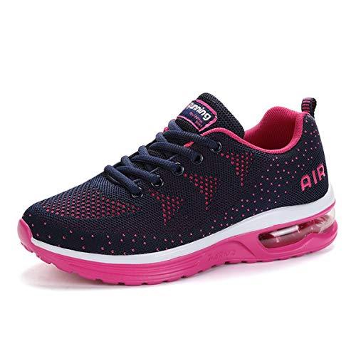 Zapatillas de Deporte Hombre Mujer Running Bambas Ligero Zapatos para Correr Respirable Calzado Deportivo Andar Crossfit Sneakers Gimnasio Moda Casuales Fitness Outdoor Bluepurple01 38