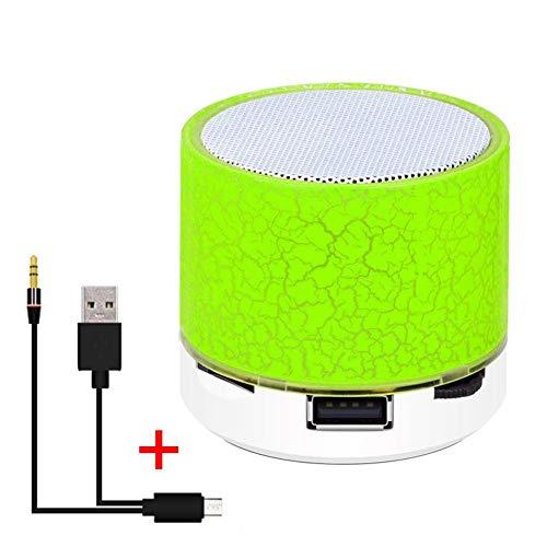 Altavoz Bluetooth USB Inalámbrico Bluetooth Luz Colorida Sonido pequeño Grieta Altavoz Audio Teléfono móvil Mini Soporte para subwoofer Tarjeta TF, Disco U, AUX