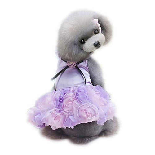 WONDERSKY Pet Small Dog Tutu Clothes Party Dress...