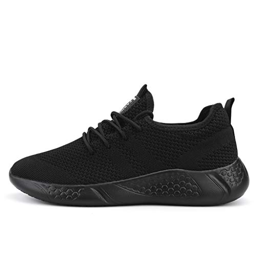 Damyuan Men's Athletic Walking Shoes Lightweight Gym Mesh Comfortable Trail Athletic Running Shoes Black,8