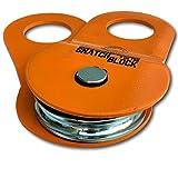 GearAmerica Snatch Block(9 nous Ton) Doublez votre capacité de treuil et Direction de contrôle de la traction Récupérer les de poulie utilisé avec manilles et arbres Saver sangles orange 9T