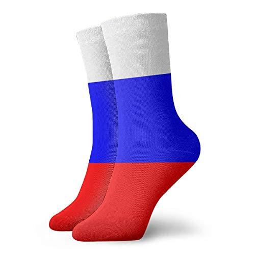 Russian Flag Socks Women & Men Socks Soccer Sock Sport Tube Stockings Length 11.8 Inch