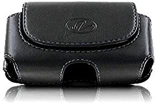 Wonderfly Horizontal Holster for Flip Phone or Smartphone Up to 4.25x2.25x0.85 Inch in Dimensions, a Leather Carrying...