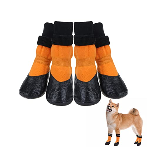 Non Slip Dog Socks with Grip for Medium Large Puppy - Dog Traction...