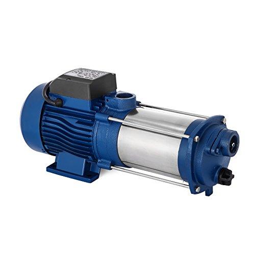 GIOEVO Pompa acquario 1100W Pompa idraulica a getto centrifugo 100L / min Elettropompa Altezza Massimo 90 m MC-1100 Pompa centrifuga per la Camera, giardino (senza l'interruttore)