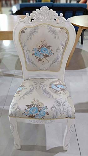 Eetkamerstoel Europese stijl print landelijk eenvoudige massief hout stof hotel dressing nagel manicure home restaurant stoel