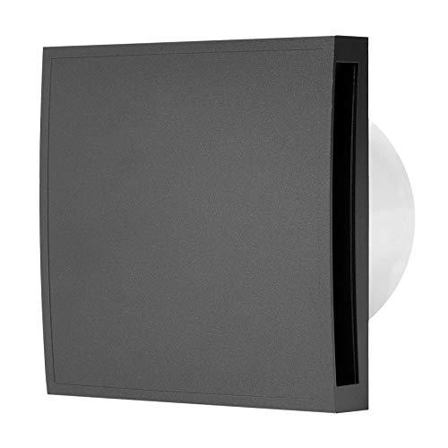 puissant Ventilateur de salle de bain silencieux avec capteur d'humidité et minuterie anthracite Ø100 mm