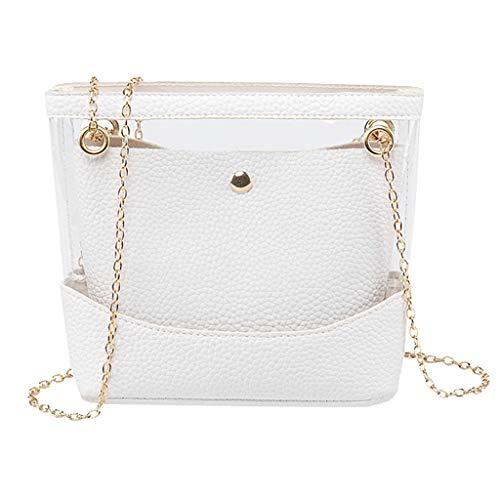 COZOCO Frauen arbeiten Dame Shoulder Bags Jelly Package Hasp-Handtaschen-Geldbeutel-Handykurierbeutel um(weiß)