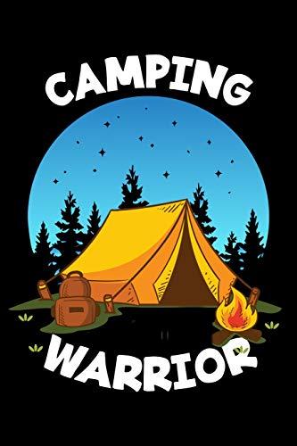Mein Wohnmobil Reisetagebuch: Dein persönliches Tourenbuch für Wohnmobil und Campingreisen im handlichen 6x9 Format I Motiv: Camping warrior Zelt blau