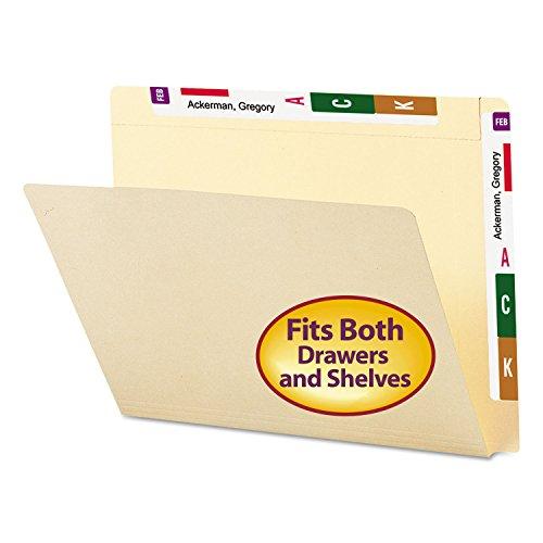 Smead 24190 Conversion File Folders Straight Cut Top Tab Letter Manila 100/Box