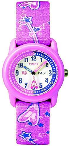 Timex T7B151 Girl's Time Teacher Ballerina Fabric Band Analog Watch