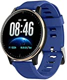 Reloj de fitness con pantalla táctil a color, Bluetooth IP68, impermeable, rastreador de actividad física, contador de calorías, rastreador de