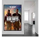 shifangtrade Leinwand Poster Will Smith Film Bad Boys for