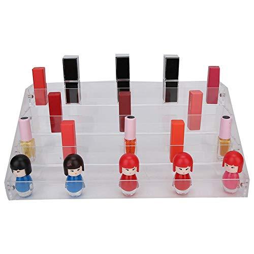 4 lagen transparant cosmetisch organizerdoosje, grote capaciteitsnagellak tentoonstellingsstand-houder voor tatoeage-inkt, nagellak, lippenstift en andere spullen.