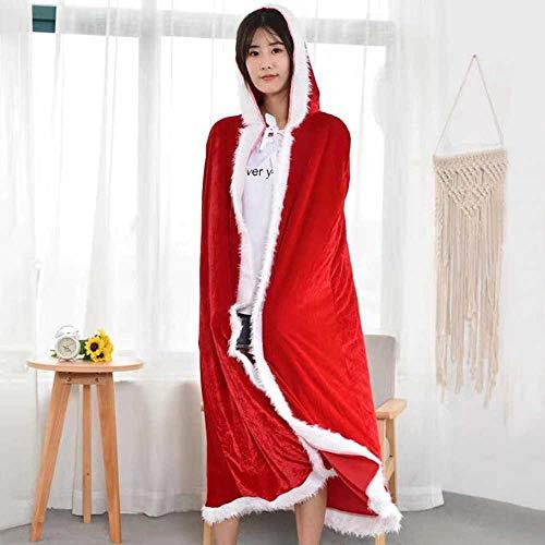 Coogg kerstkostuum van katoen met hoed Kerstman uniform rood cape 1 Maand Code Moyen - Cape