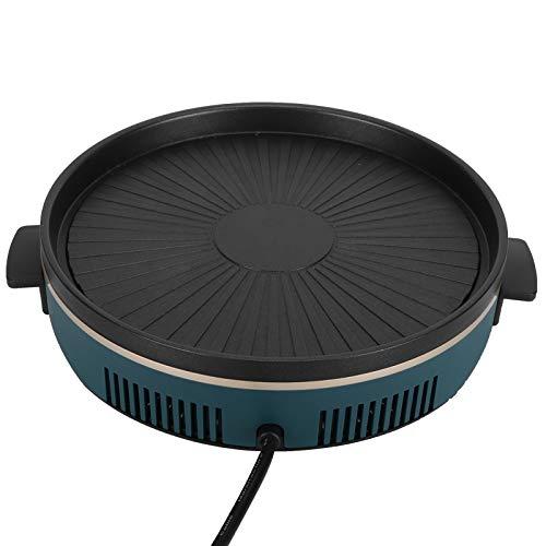 Parrilla de cocina Anti-escaldaduras Multifunción Sin humo Sartén antiadherente Parrilla eléctrica de 220 V resistente al(European standard 220V)