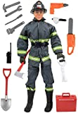 Click N' Play CNP30633 Search & Rescue Firefighter 12'' Action Figure Play Set with Accessories, 12 inches