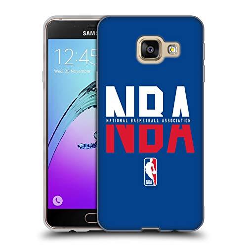 Head Case Designs Ufficiale NBA Tipografia 2019/20 Logoman Cover in Morbido Gel Compatibile con Samsung Galaxy A3 (2016)