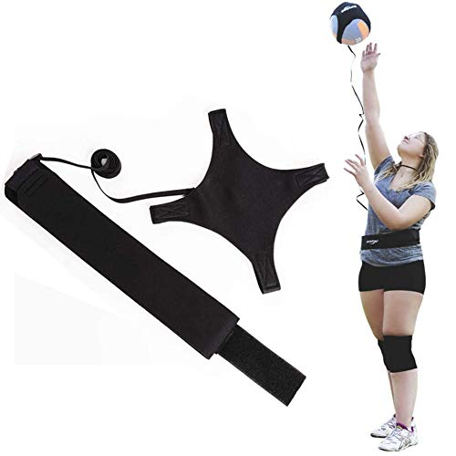 LZDD Ultimate Volleyball Trainer Practice Belt,Outdoor Training Football Top Ball Adjustable Belt Trainer Aid Accessories
