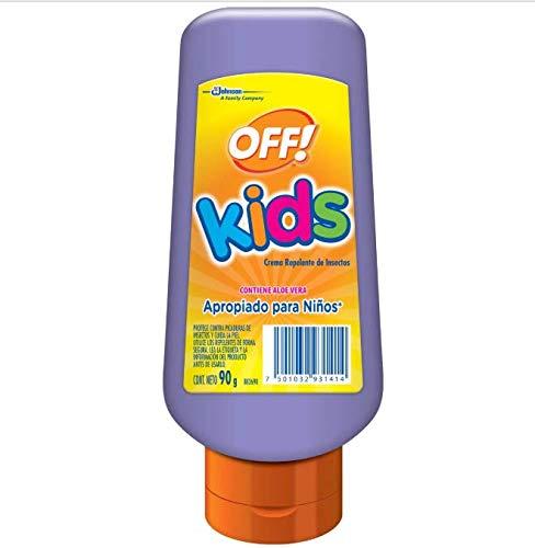 Off! Kids Crema Repelente de Insectos contiene Aloe Vera; Apropiada para niños, 90g (Presentación puede variar)