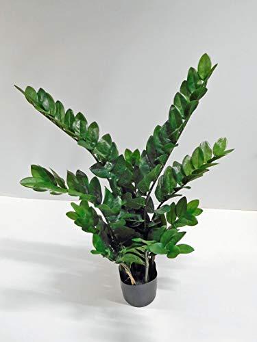 Zamioculcas Zamiifolia Zamio Kunstpflanze Kunst Pflanze Deko Dekopflanze Topfpflanze Zimmerpflanze Blattpflanze Grünpflanze Kunstblume Blume künstlich unecht Topf grün 90 cm getopft 1916601-50 F55