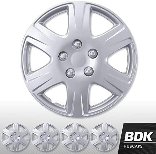 BDK 4 Pack of Premium 15 inch Hubcap Wheel Cover Replacements for OEM Steel Wheels High Grade product image