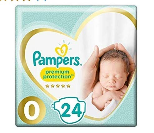 Pampers New Baby Size 0 (Micro) Carry Pack 24 x 2 Total 48 Nappies by Pampers