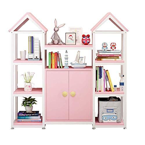Haushaltsgeräte Kinderspielzeugregal Kinderspielzeugregal - Perfekte Spielzeuglagerungslösung Kinder Bücherregal Spielzimmer und Klassenzimmer Spielzimmer Bücherregal Organizer (Farbe: Pink Größe:
