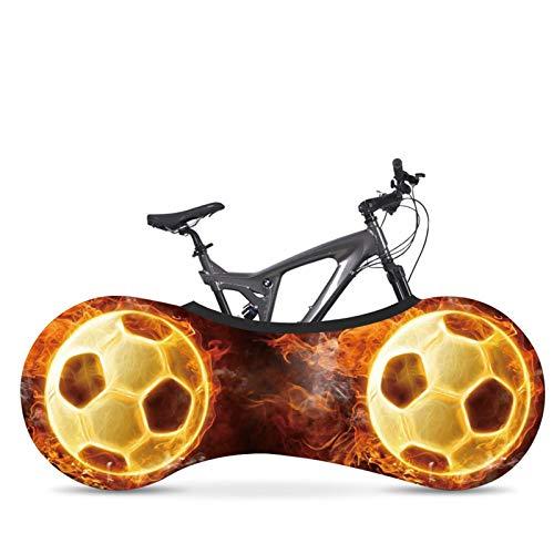 AGQH Universal Interior Cubierta de Bicicleta para Almacenamiento, Patrón impresión fútbol, Funda Bicicleta de Carretera MTB Bolsa Almacenamiento Mantiene limpios los Suelos y Las Paredes de su casa