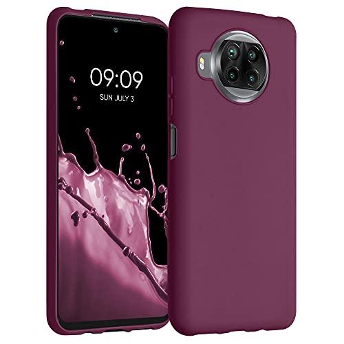 kwmobile Hülle kompatibel mit Xiaomi Mi 10T Lite - Hülle Silikon - Soft Handyhülle - Handy Hülle in Bordeaux Violett