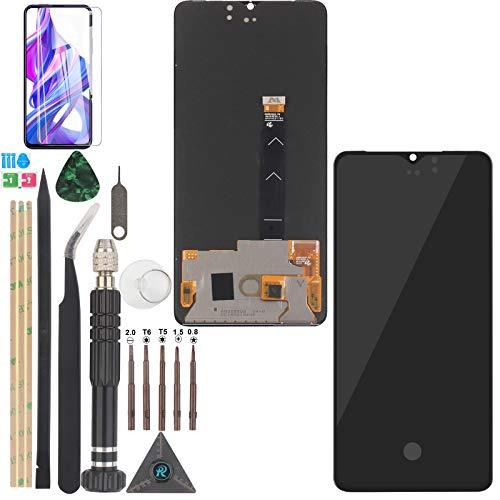 YWL-OU compatibile con AMOLED Realme X2 Pro di ricambio schermo LCD e digitalizzatore touch screen con sensore di impronte digitali (nero)