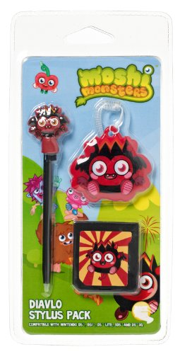 Moshi Monsters Stylus Pack Dialvo Compatible with Nintendo DS Lite/DSi/3DS/New 3DS XL