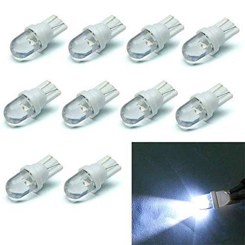 10pcs Blanco T10 LED Bombilla 12V 6500K 5W 194 168 158 Cuña Luz Interior del Coche Dashboard Bombilla Luz de maletero lateral Luz Número Placa Bombilla