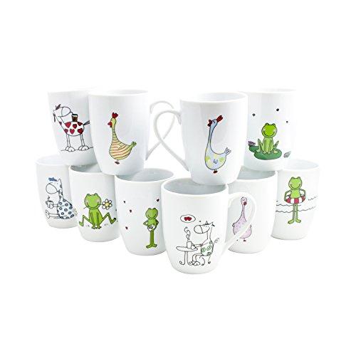 Domestic Kaffeebecher 'Grafics', Porzellan, 290ml, Stück:12 Stück