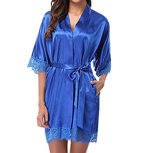 LianMengMVP Aux Femmes Dame Dentelle Sexy VêTements De Nuit Satin Peignoir De Bain Lingerie Pyjama Suit G-String