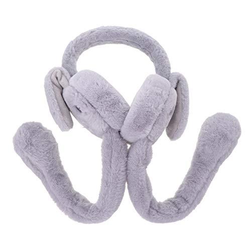 Amosfun Winter Ohrenschützer Plüsch Warme Ohrenschützer Kunstpelz Hasenohren Ohrabdeckung Kaltes Wetter Gehörschutz für Kinder Erwachsene