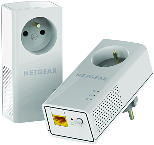 Netgear Powerline Adapter/2x 1-Port 1200Mb plug Eingebauter Ethernet-Anschluss 2 Stück(e) - PowerLine Netzwerkadapter (2 Stück(e))