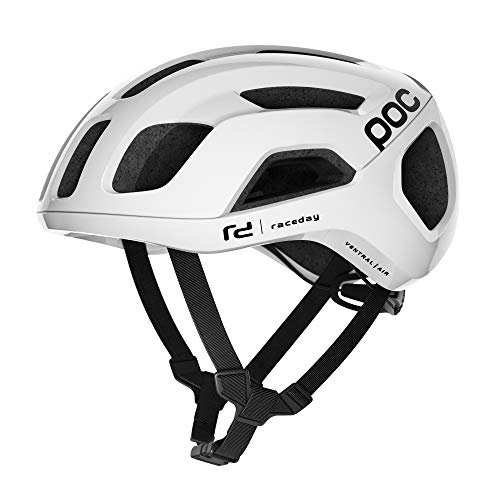 POC, Ventral Air Spin Bike Helmet for Road Cycling, Hydrogen White Raceday, Medium
