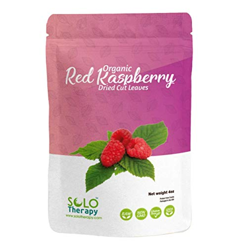 Certified Organic Red Raspberry Leaves 4oz., Red Raspberry Leaf Tea , Dried Cut Leaves in a Resealable Bag, Rubus Idaeus , Product From Croatia, Packaged in the USA