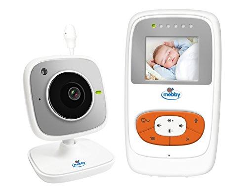 Mebby 95138 Baby Monitor con Videocamera a Colori Integrata, senza Fili
