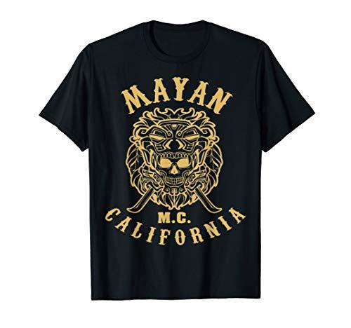 Mayan MC Apparel Lion T Shirt Limited Gold Skull Vintag