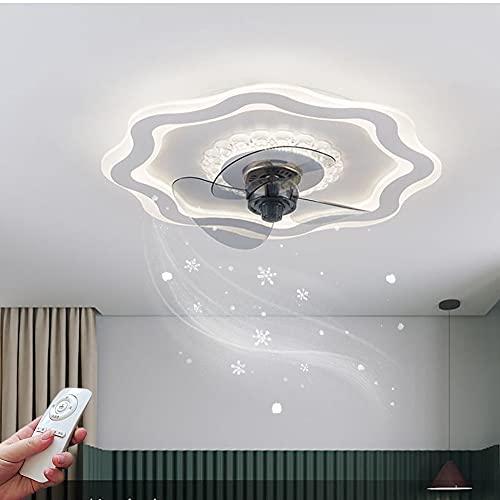 LED Ventilateur Plafond Chambre Silencieux Dimmable Fan Plafonnier, Ventilateur Au Plafond avec Lampe et Telecommande Pour Chambre D'enfant Salon Fan Lustre Éclairage Réglable 3 Vitesse Du Vent