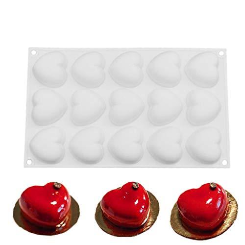 15 Moule De Coeur De Cuisson De Coeur D'amour Pour Le Moule De Silicone De Moule De Muffin De DIY