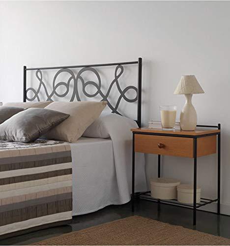 Cabecero de forja Lucas - Crema 22, Cabecero para colchón de 200 cm