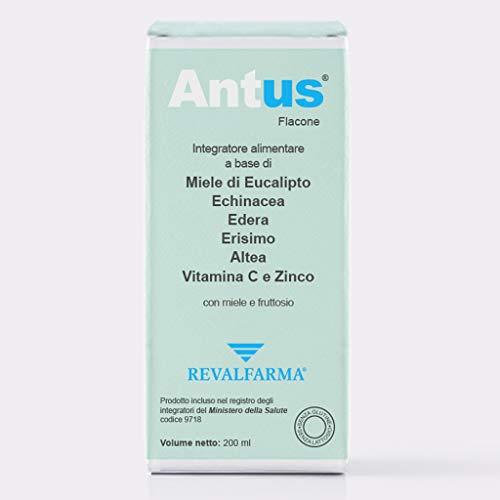 Antus Integratore Alimentare - Tosse Secca, Tosse Grassa - Con Miele - Eucalipto Echinacea - Flacone - Ml, Fragola, 200 ml